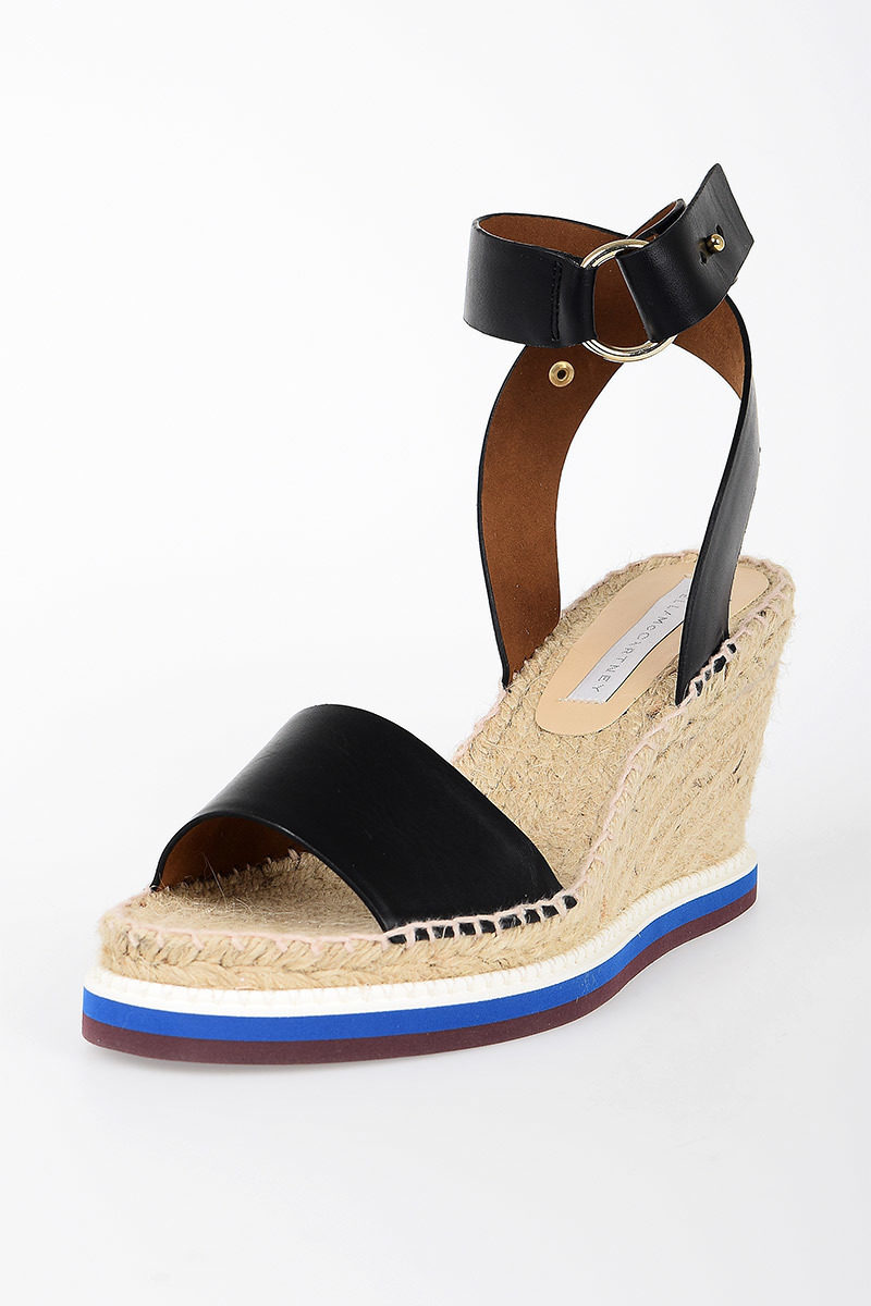 a41dc671a Stella McCartney Faux Leather Cord Wedge Sandals women - Glamood Outlet