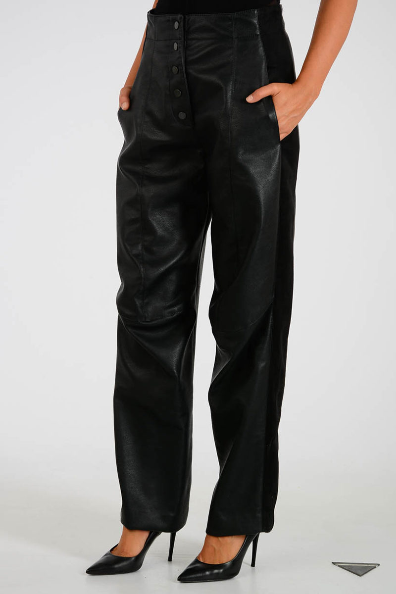 f5dcf64020d1 Stella McCartney Faux Leather Trousers women - Glamood Outlet