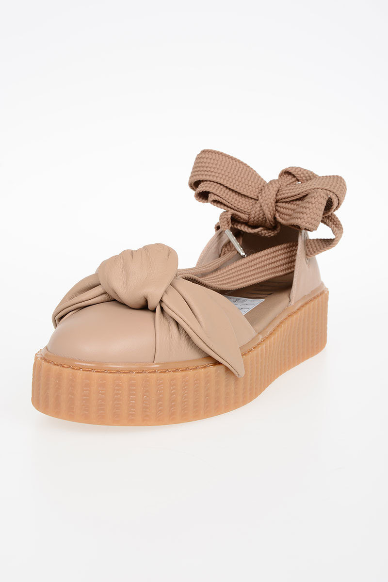 super popular a949c 8ad24 FENTY BY RIHANNA Leather BOW CREEPER Sandals
