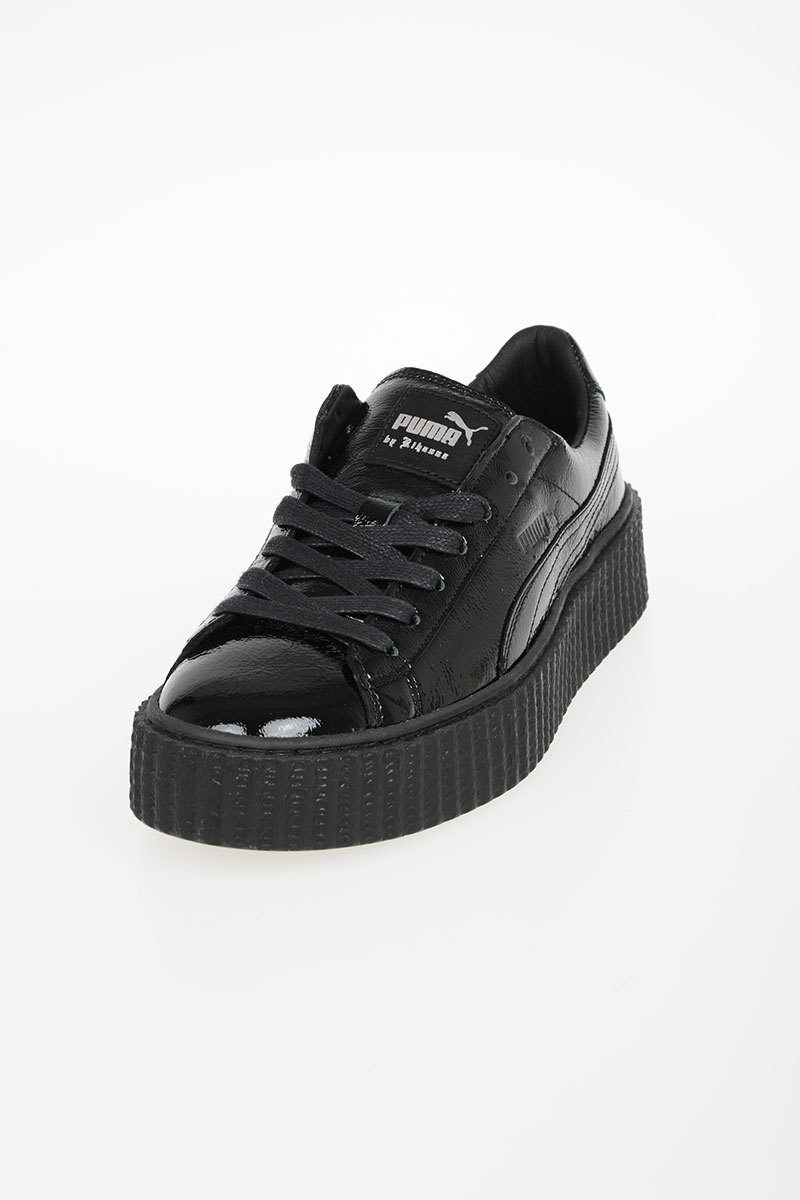 official photos 15d3e 094ba FENTY BY RIHANNA Leather CREEPER WRINKLED PATENT Sneakers