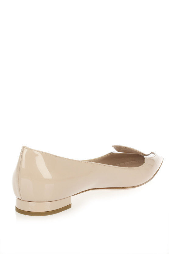 Flat patent shoes