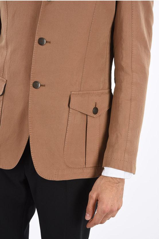 Flax Blend DEEGAN 3-Button Blazer