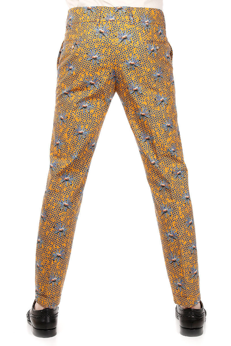 c3840706588503 Stella Jean Floral patterned Cotton Trousers men - Glamood Outlet