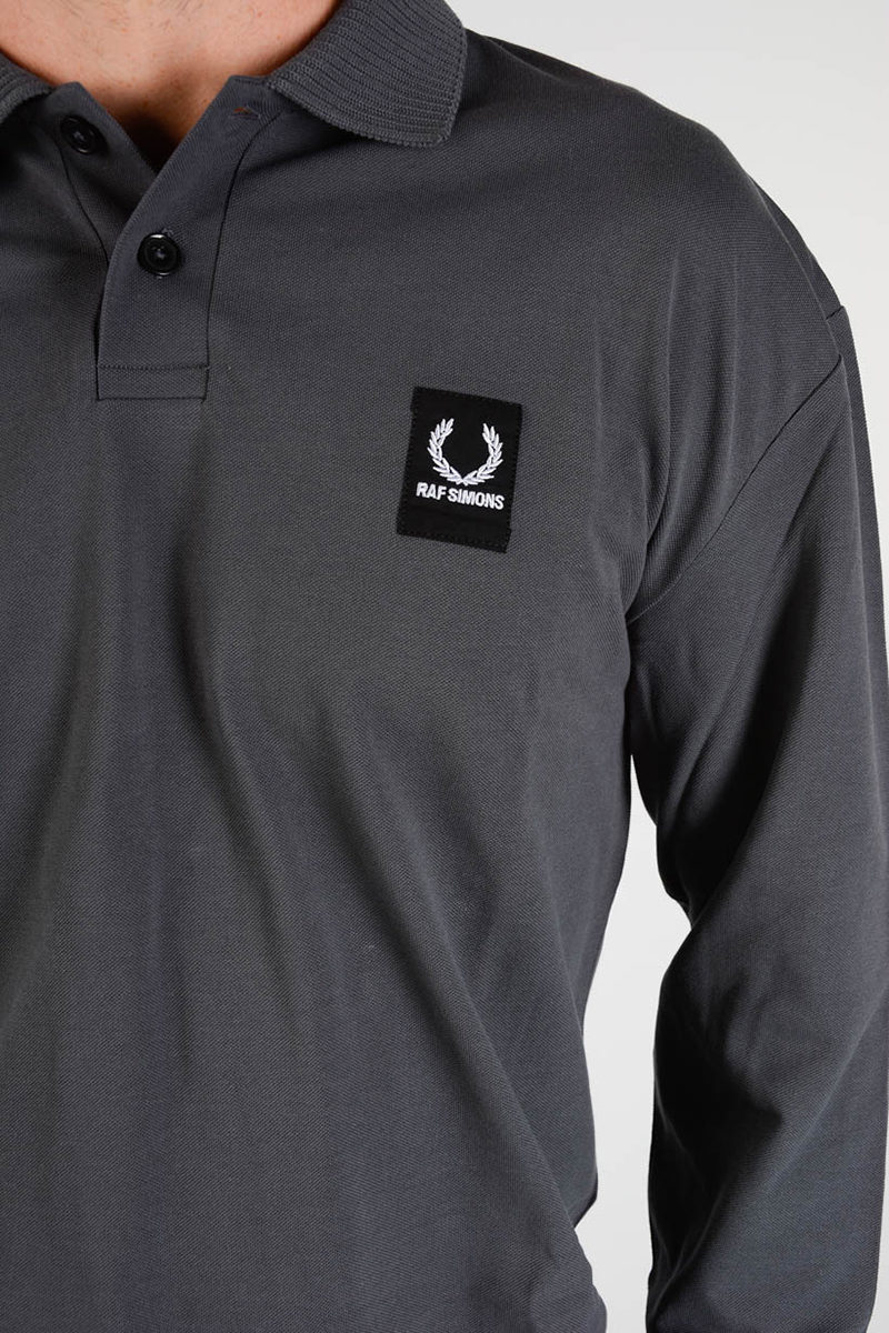 Raf Simons Fred Perry Long Sleeves Polo Men Glamood Outlet