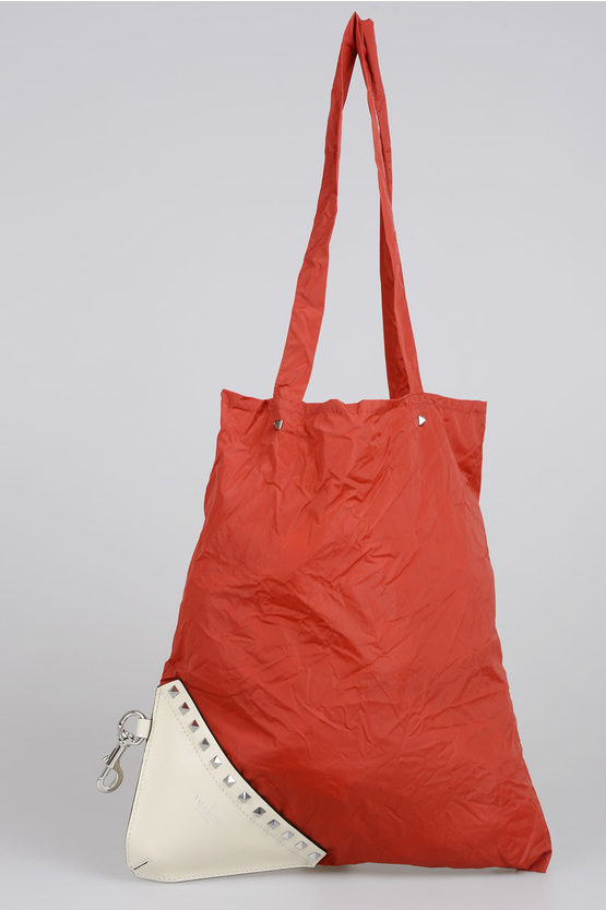 GARAVANI Leather and Nylon Shopping Bag