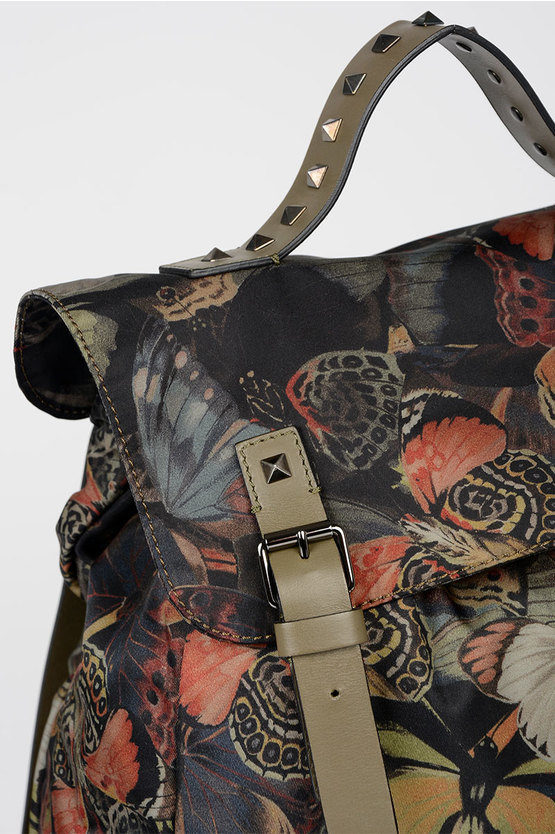GARAVANI Printed Textile CAMUBUTTERFLY Backpack