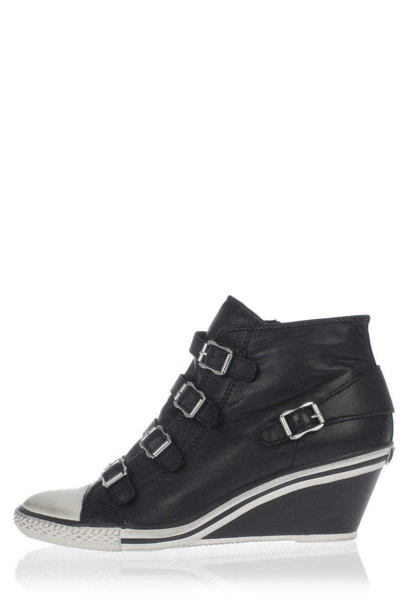 5b950092d0b ASH GENIAL Leather Wedge Sneakers women - Glamood Outlet