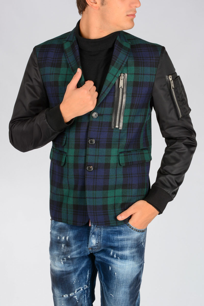 Glamood Quadri Giacca Dsquared2 Outlet Lana Uomo A In v1EEwYq
