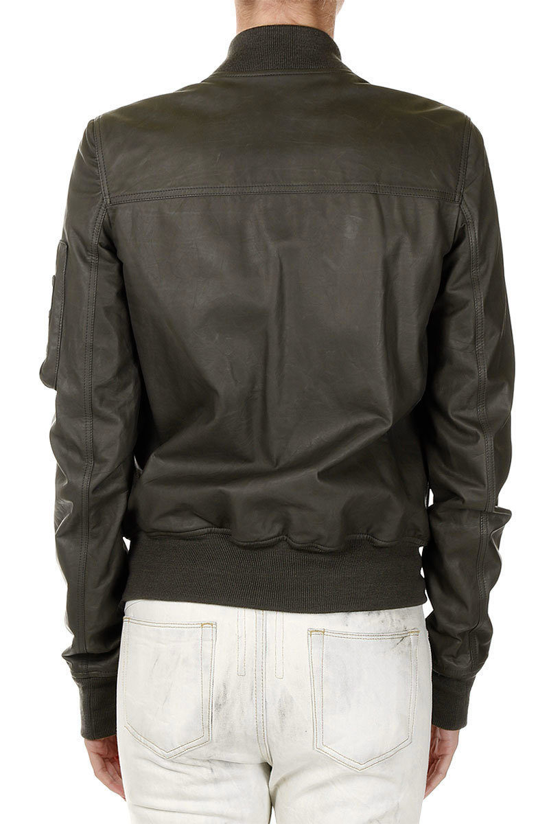 new styles b34fe cae6c Giacca di Pelle FLIGHT BOMBER CROPPED