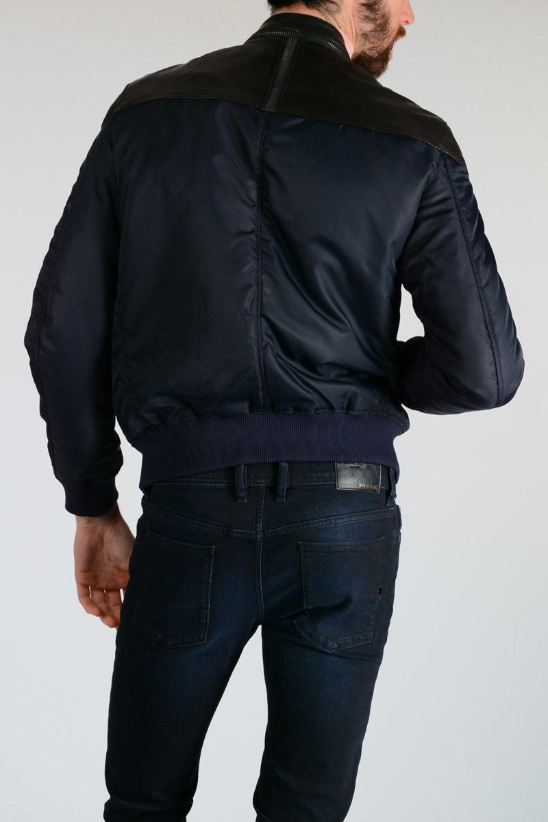 53c76cdeccc76 Diesel Giacca in Pelle e Tessuto LIDOR GIACCA uomo - Glamood Outlet