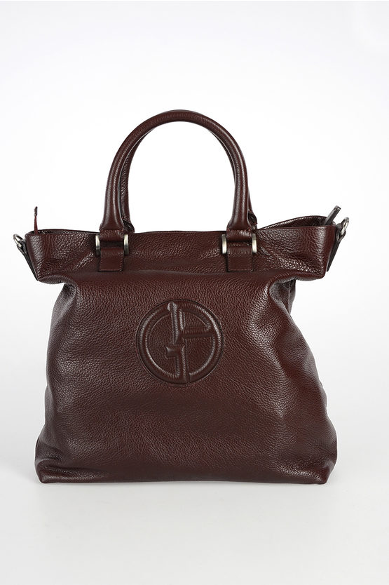 GIORGIO ARMANI Leather Tote Bag