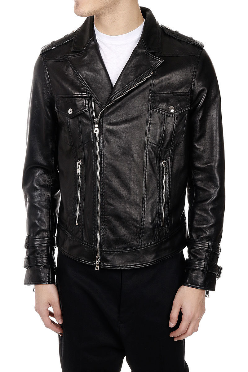 new concept 2562d 92880 Giubbotto BIKER PERFECTO SMOKING in Pelle