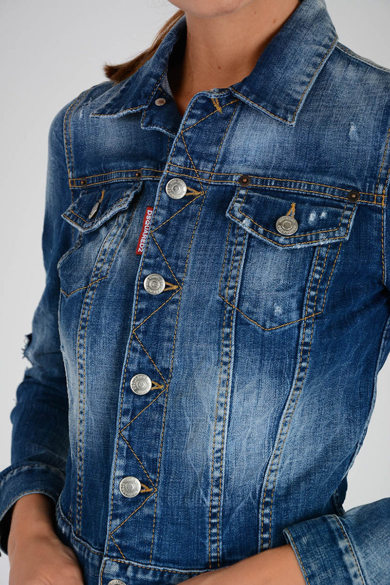 Glamood in Outlet Dsquared2 Giubbotto donna Denim I08wwqTUx