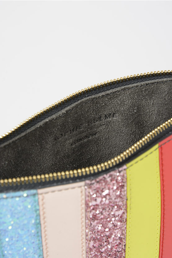 Glittery Leather TALBOT Pouch