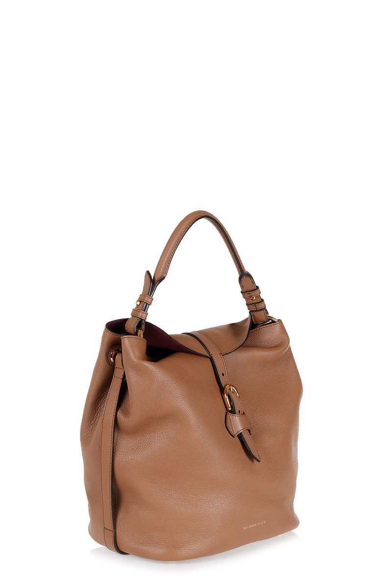 74ba779c19 Burberry Grain Leather SYCAMORE Hobo Bag women - Glamood Outlet