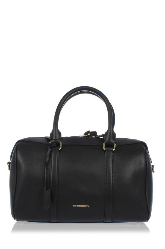 Grained Leather Bowling Bag