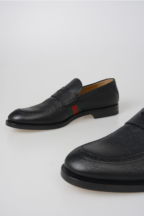 Grained Leather Loafer