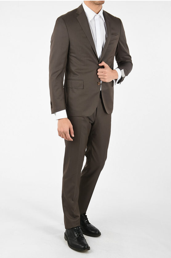 Hairline Striped ACADEMY SOFT 2-button suit