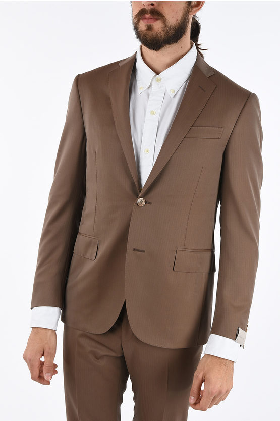 hairline striped fresco ACADEMY SOFT 2-button suit