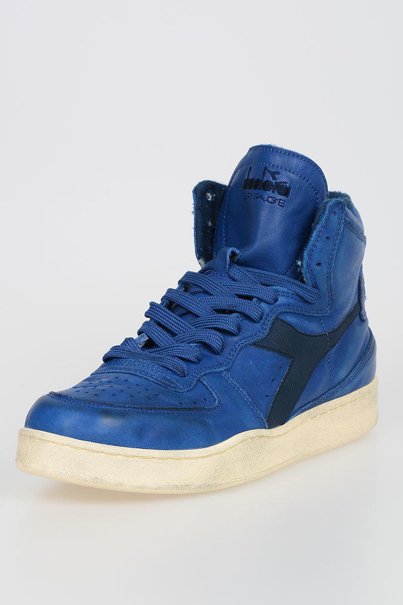 Diadora HERITAGE Sneakers MI BASKET USED in Pelle uomo - Glamood Outlet d9f5a0a92a3