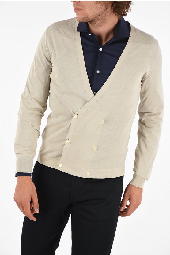 ID Cotton Double Breasted Cardigan