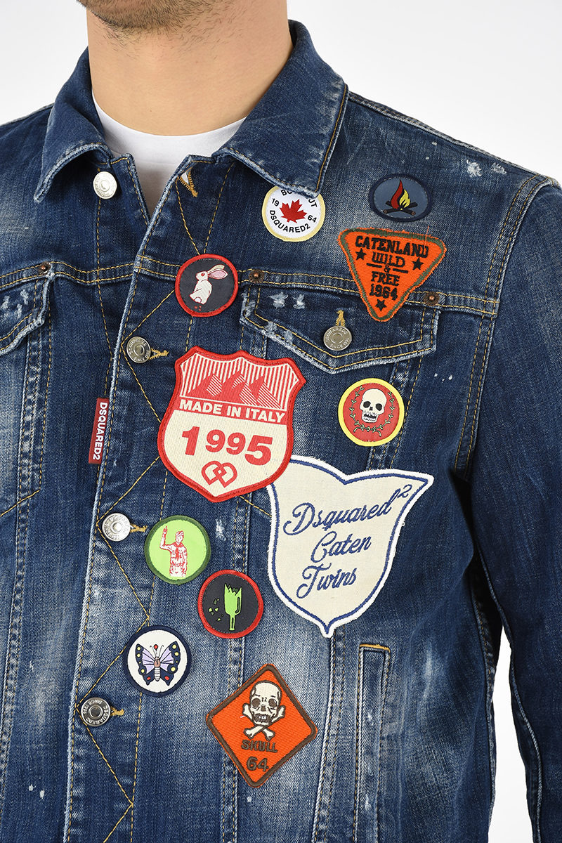 Dsquared2 Jean Jacket with Patches men - Glamood Outlet