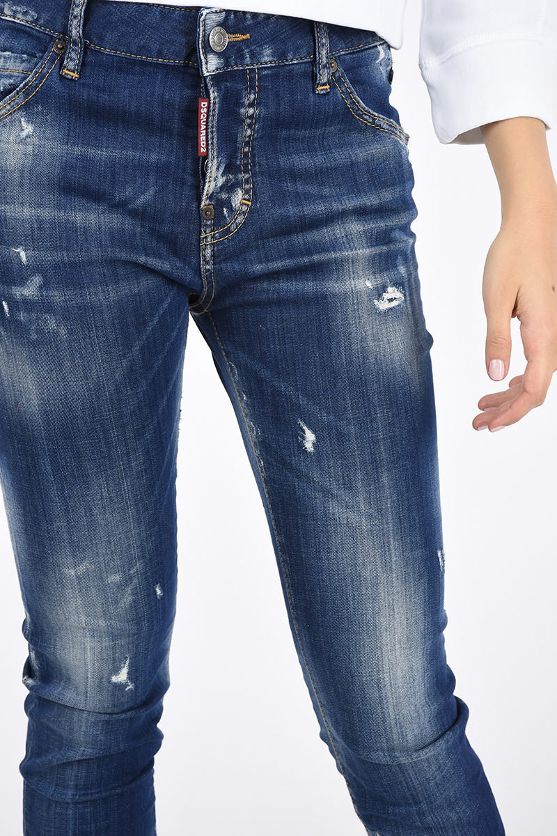 Dsquared2 Jeans COOL GIRL in Denim Stretch 14cm donna - Glamood Outlet f43203e868fd