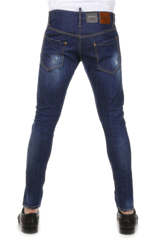 Dsquared2 Jeans Denim stretch SEXY TWIST JEAN con Strappi 16 cm uomo ... 3b4a2fb9e95c