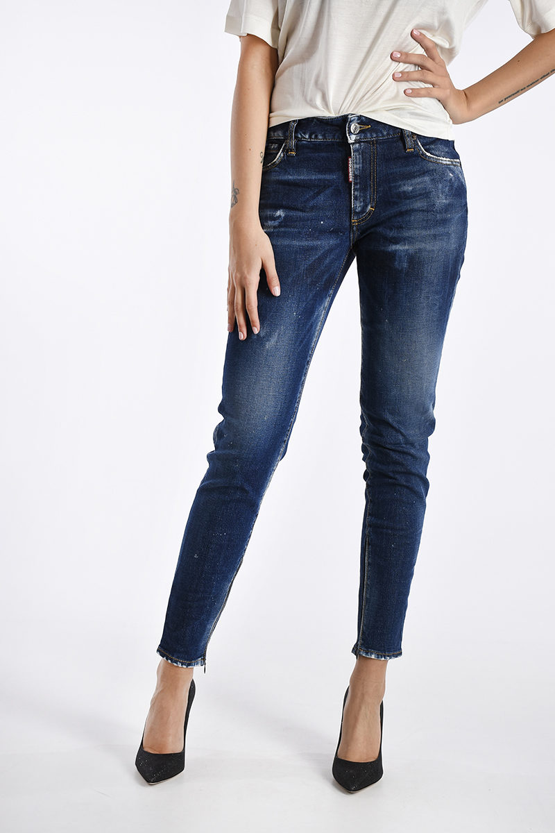 Dsquared2 Jeans in Denim Stretch 13cm donna - Glamood Outlet f14857cf8dca