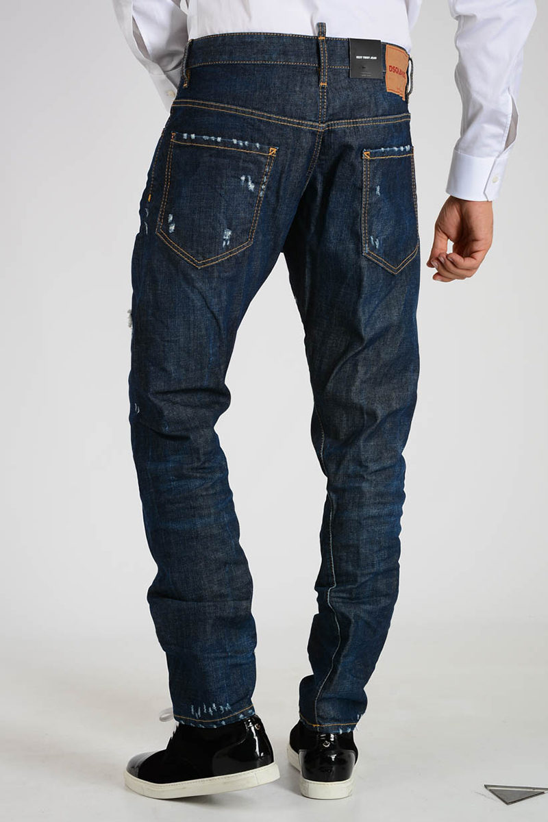 Dsquared2 Jeans SEXI TWIST In Denim Stretch 17cm uomo - Glamood Outlet 08e25e3d84a3