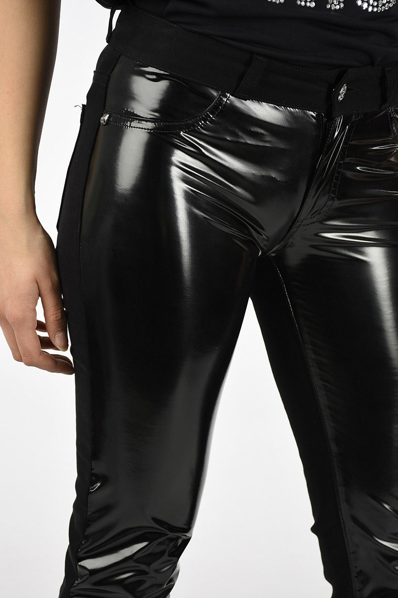 b137decfd757f Just Cavalli Jeggings with Vinyl Panel women - Glamood Outlet
