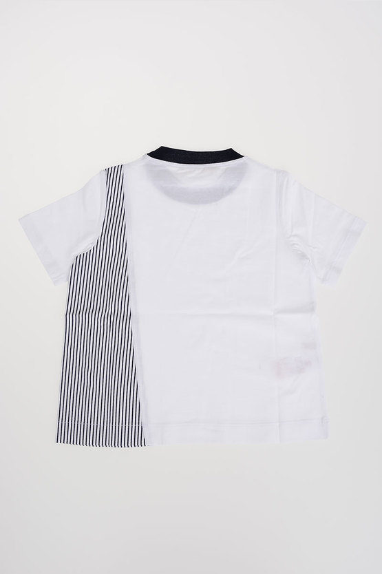 Jersey & Poplin Cotton T-Shirt