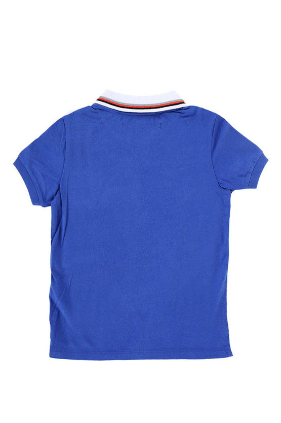 Jersey Cotton T-shirt with Polo neck