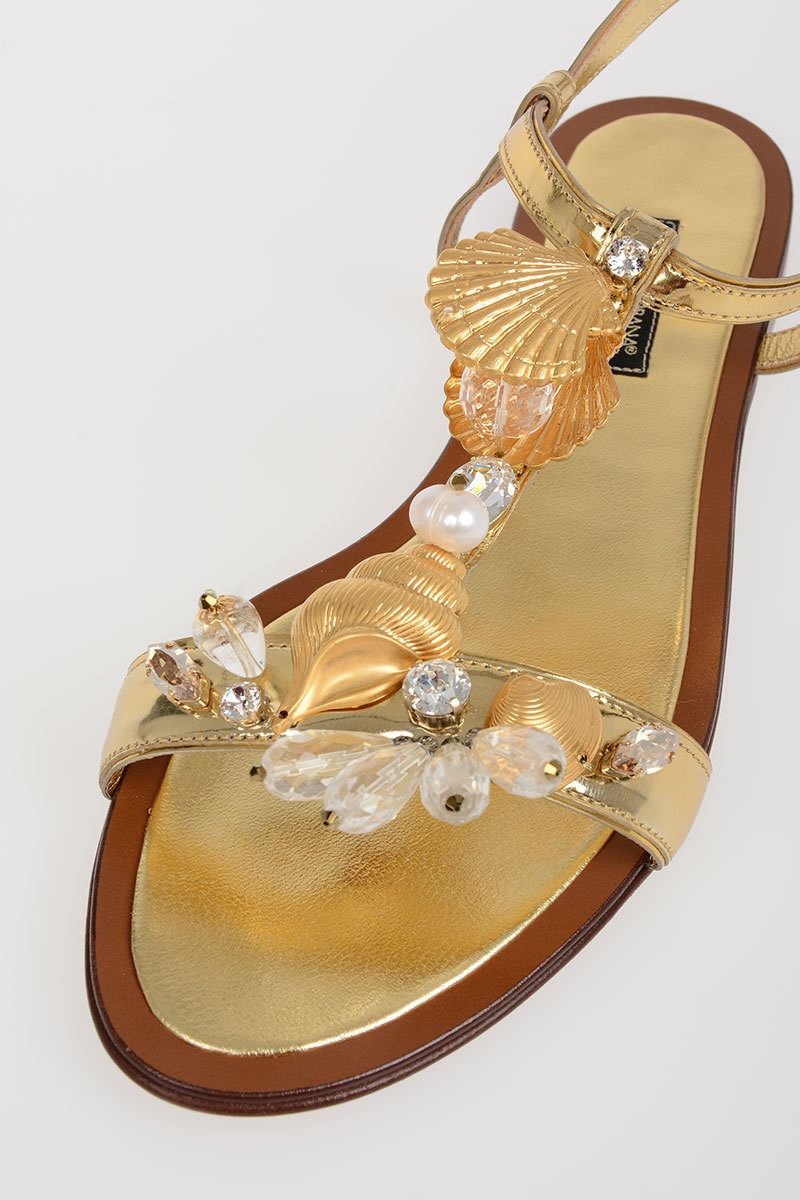 2fc544d11 Dolce   Gabbana Jewel Sandals BIANCA Leather women - Glamood Outlet