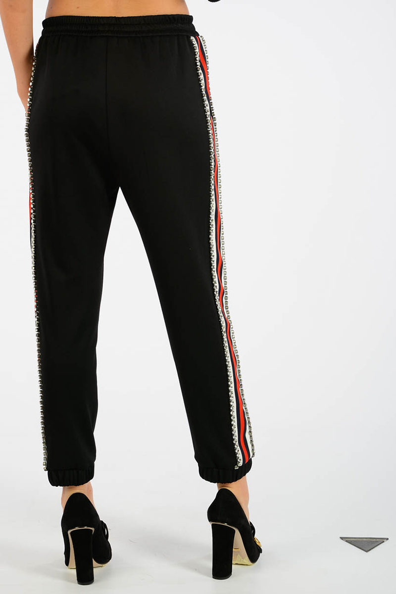 gucci jogger pants jewel details women glamood outlet