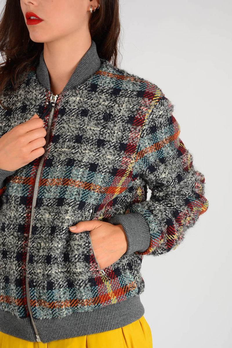9d5c381a2 Knitted AZURA CHECK Jacket