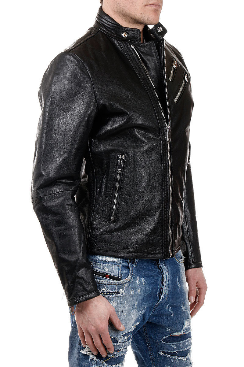 L Jacket With Oyton Details Leather Zip BshQCtxrd