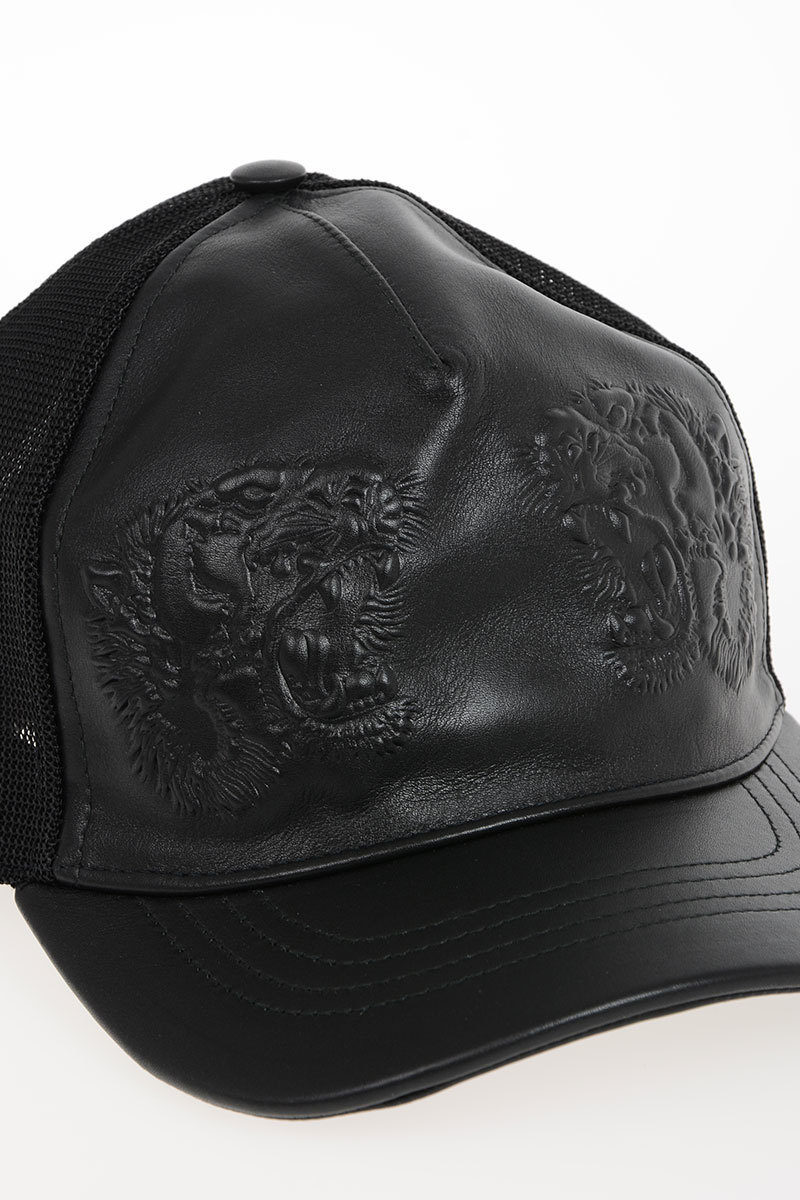 Gucci Leather   Nylon APOLLO TIGER Baseball Hat - Glamood Outlet 3a73c8d24b9