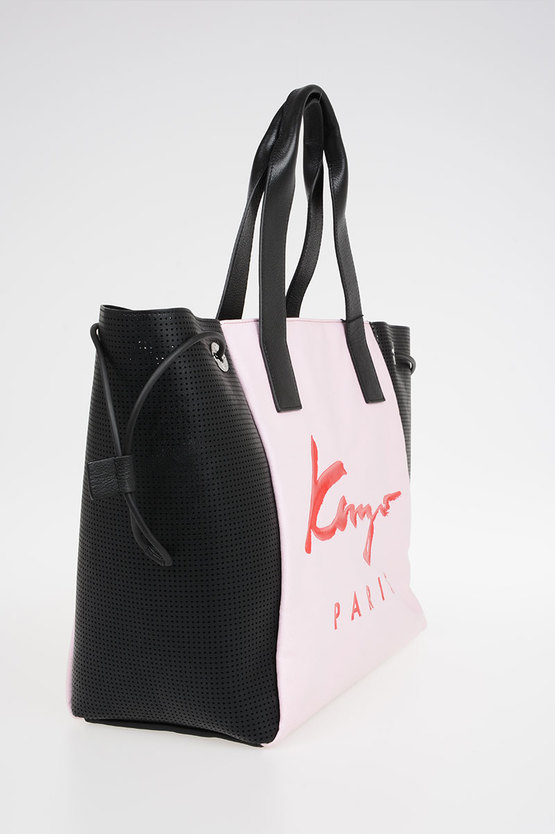 Leather & Fabric Shopping Bag