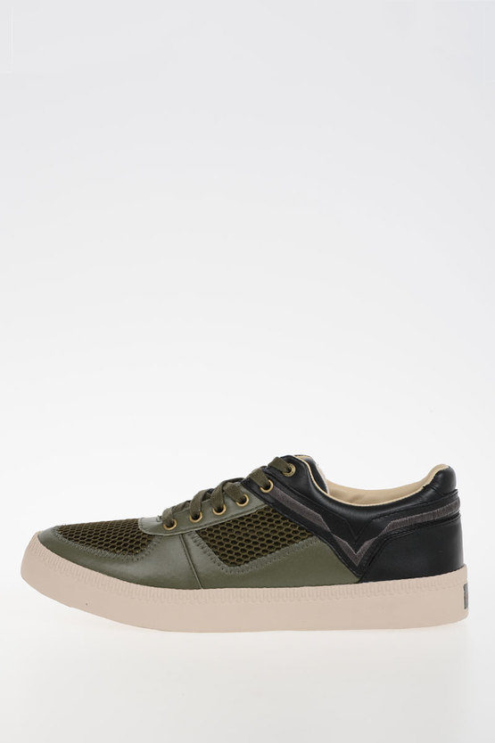Leather & Mesh Fabric S-SPAARK LOW Sneakers