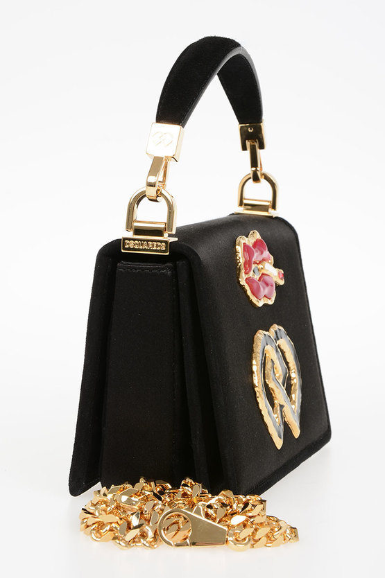 Leather & Satin Bag