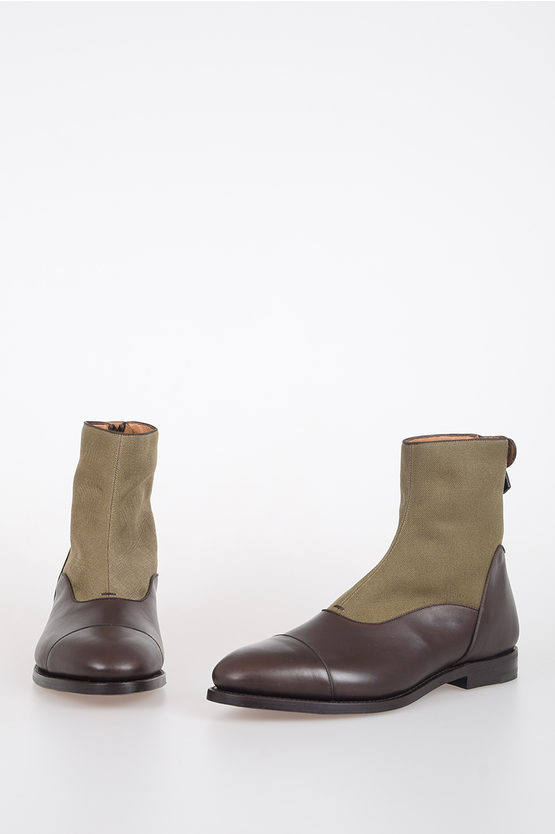 Leather and Canvas RUSKIN Ankle Boots