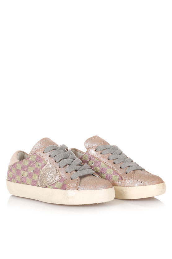 Leather and Fabric CLASSIC Sneakers kid