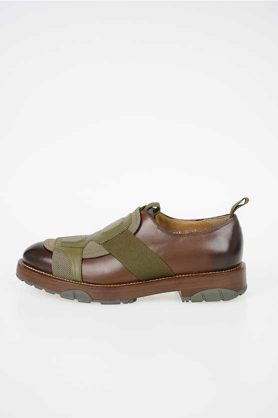 Leather and Fabric Loafers FABER