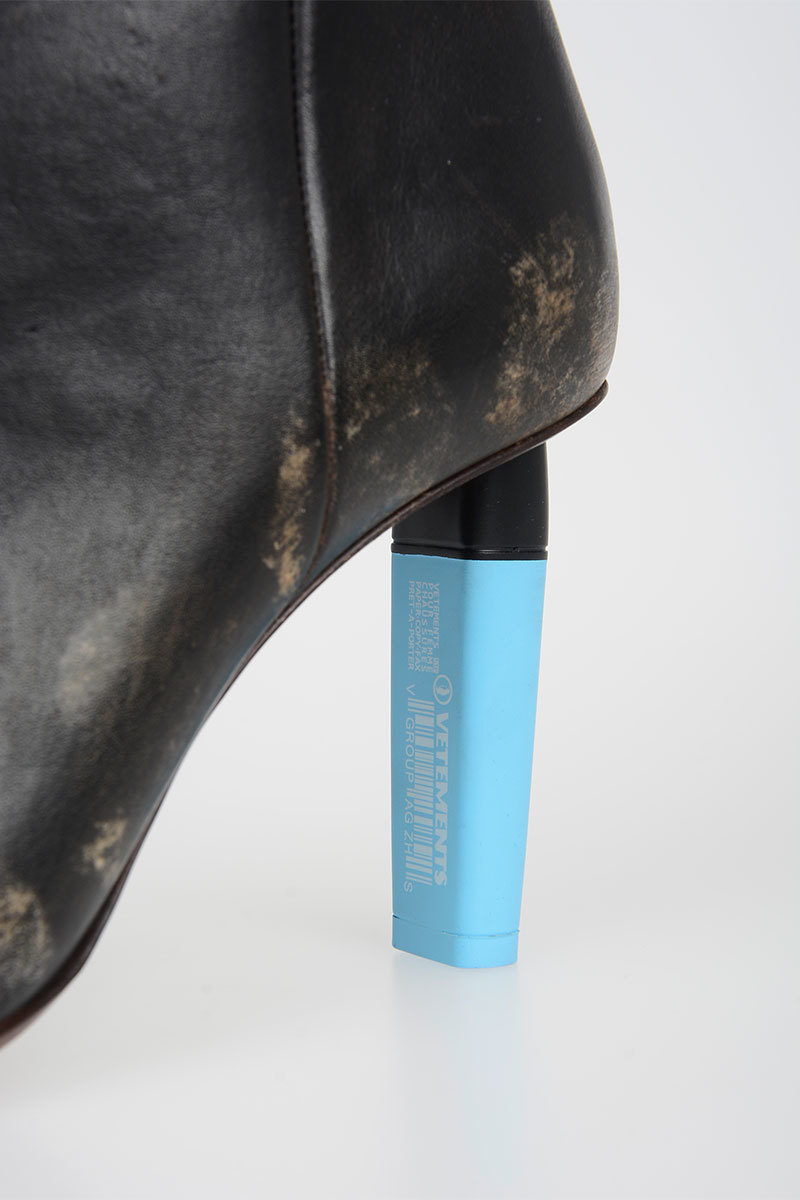 Size Leather Boots Highlighter Heel 39 Vetements 9cm Ankle UVpqMzS