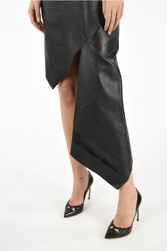 Leather Asymmetric Dress