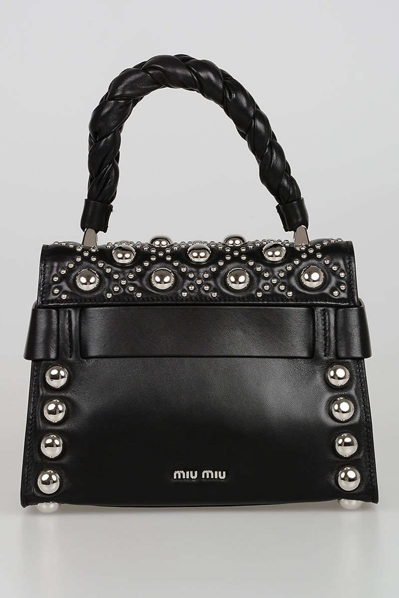 caf18d3d4df Miu Miu Leather Bag with Stud women - Glamood Outlet