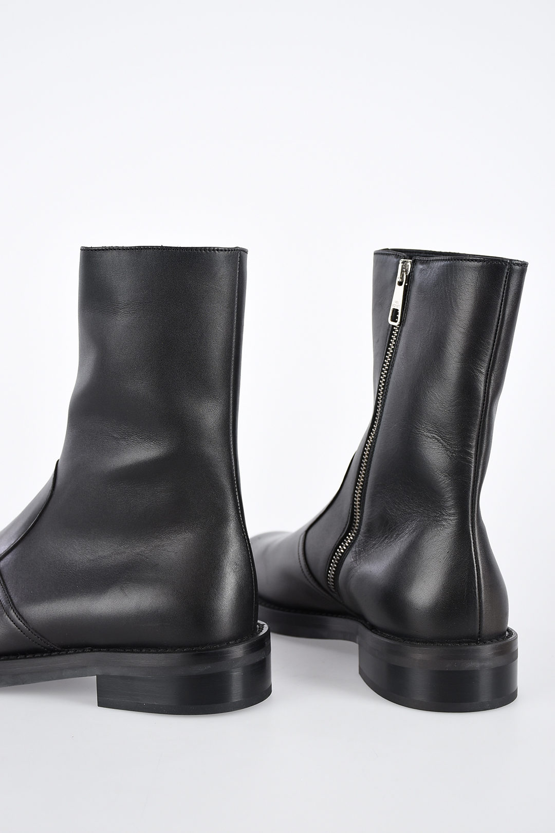 37dccc17dad Leather BIKER Ankle Boots
