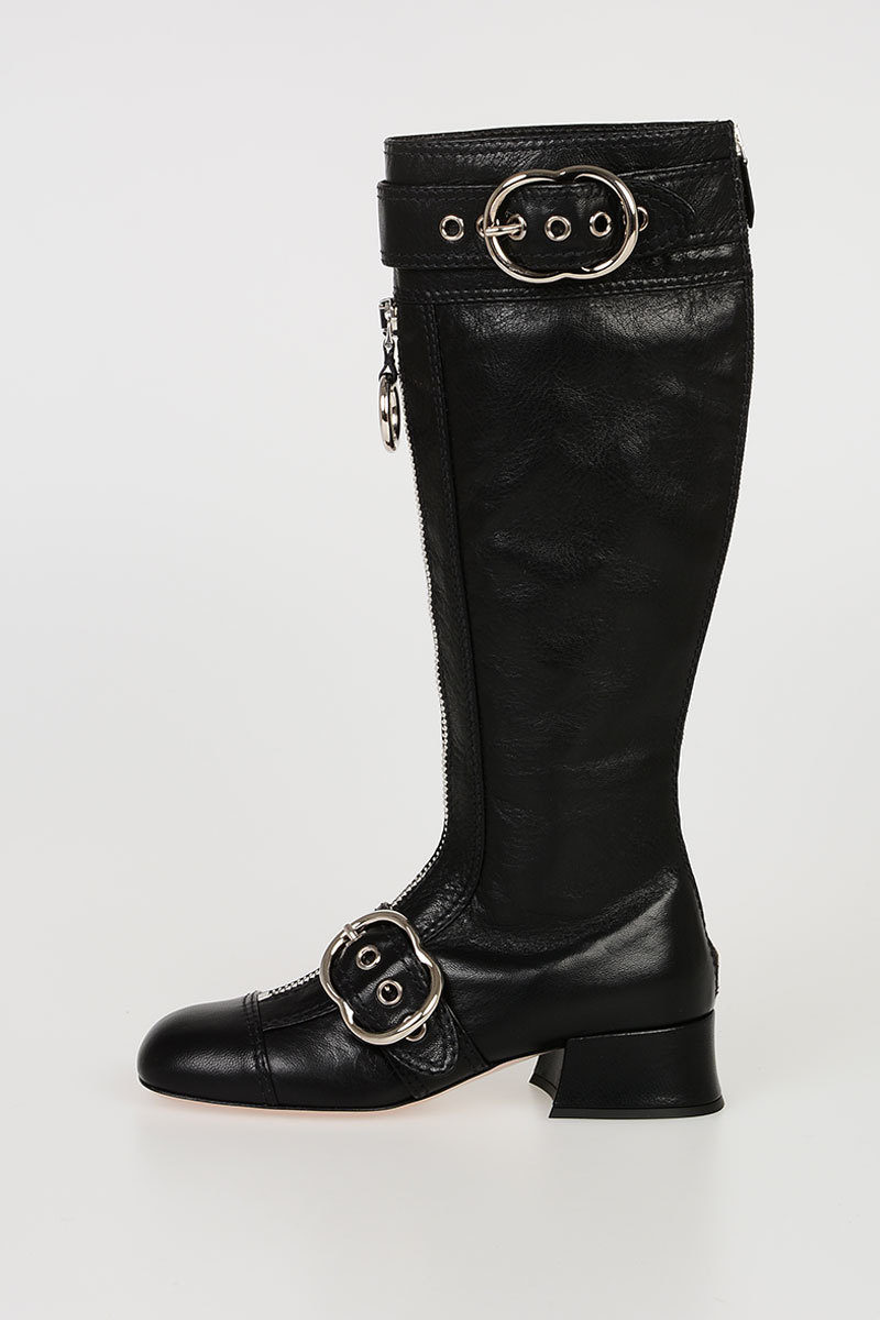 Miu Miu Leather Boots women - Glamood Outlet 21da4dd777