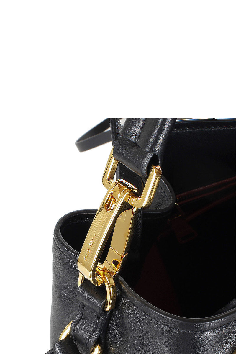 Miu Miu Leather Bucket Bag women - Glamood Outlet c3d901e445100